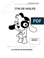 Boletin de Ingles 2do Secundaria