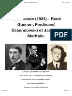 Table Ronde (1924) - Guénon, Ossendowski, Maritain.