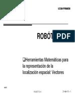 Robotica I - Sesion 5 - Vectores