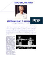 Dale Kvalheim, The First American Muay Thai Champion
