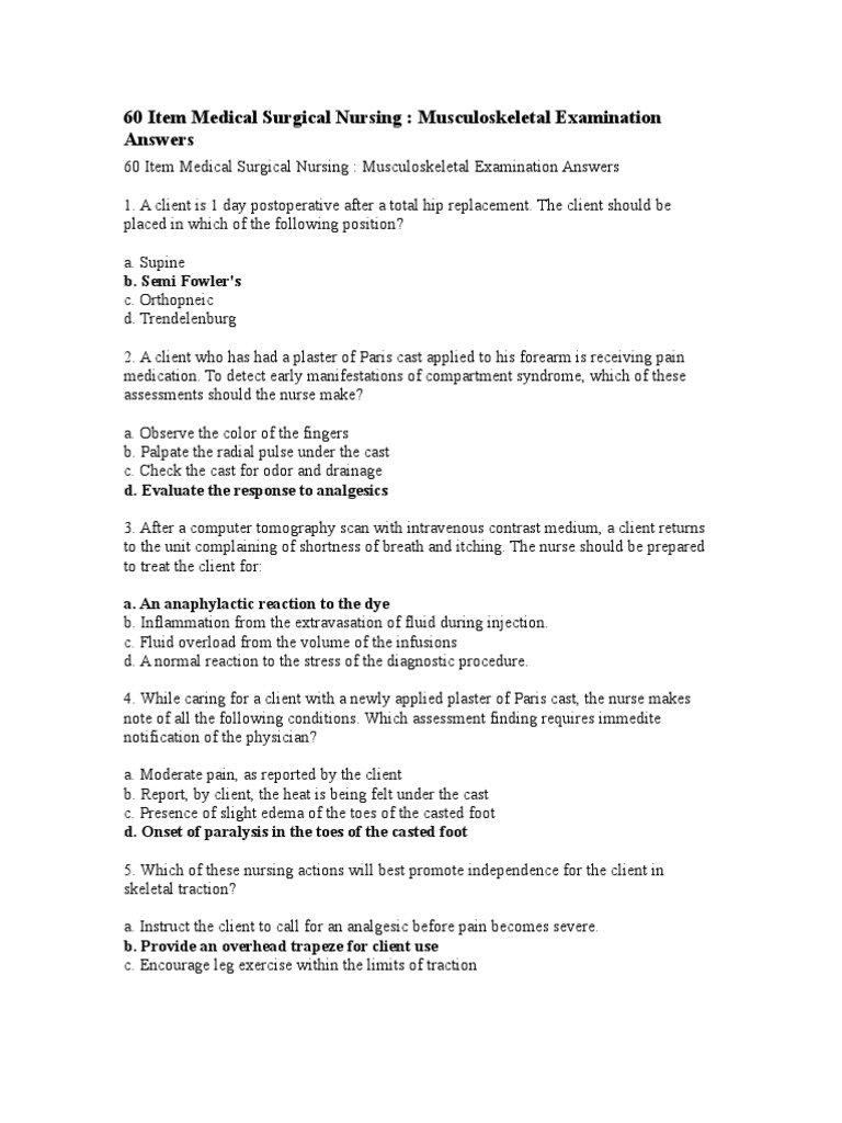 60 item medical surgical nursing musculoskeletal examination answers 60 item medical surgical nursing musculoskeletal examination answers arthritis rheumatoid arthritis fandeluxe Image collections