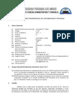 Silabo III - Teatro - Último 2015 I Escuela Contabilidad y Finanzas