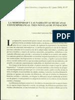 La Modernidad y Las Narrativas Mex. Contemp., Aralia Lopez 2000