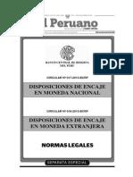 Circulares N°s. 017 y 018-2015-BCRP