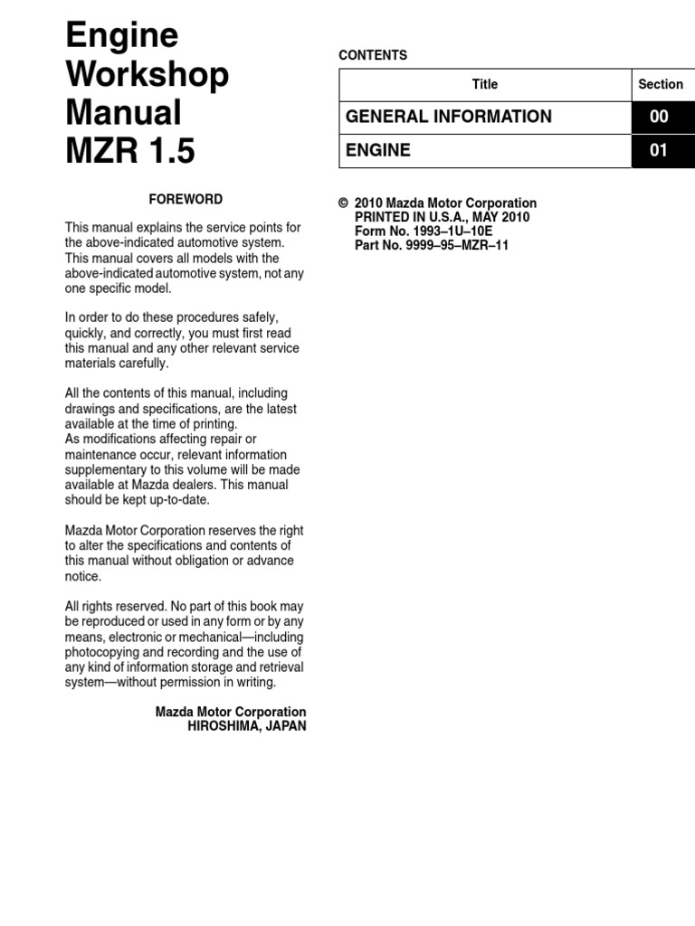 Mazda 3 Service Manual: Oil Pan RemovalInstallation Mzr 2.0, Mzr 2.5