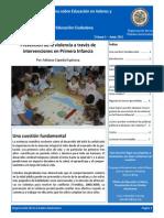 Prevención de la violencia a través de intervenciones en Primera Infancia