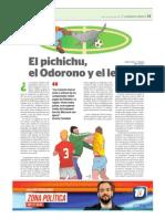 EL PICHICHU, EL ODORONO Y EL LECHON (Marcos J. Villalobo)