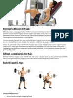 4 Latihan Otot Kaki Untuk Postur Tubuh Ideal