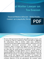 Financial Matter Lawyer on Tax Evasion