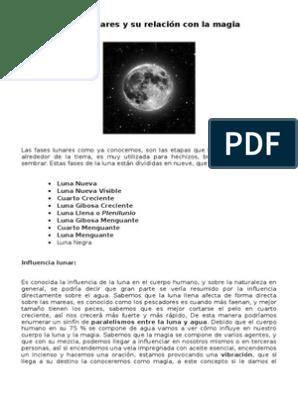Fases lunares y su relación con la magia.doc | Luna ...
