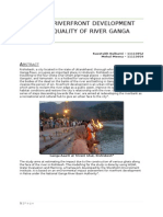 Effect of Riverfront Development on Water Quality of River Ganga