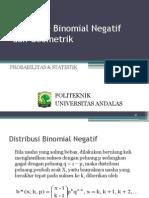 Distribusi Binomial Negatif Geometrik