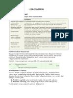 resume Corporation accounting
