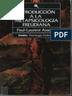 Paul-Laurent Assoun - 1993 - Introducción a La Metapsicología Freudiana
