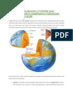Dinamika Perubahan Litosfer Dan Pedosfer Serta Dampaknya Terhadap Kehidupan Di Bumi