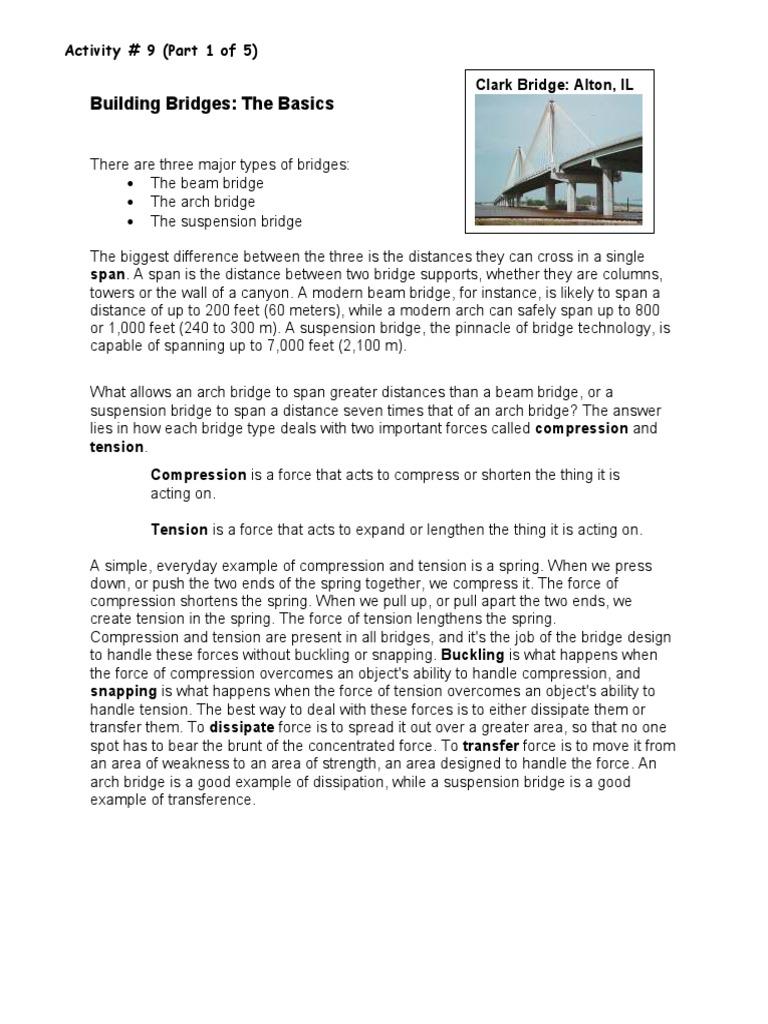 ABE GED Activity 9 Building Bridges the Basics | Truss