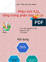 Doanthilien.phan Tich P2O5 Tong Trong Phan Bon Vo Co
