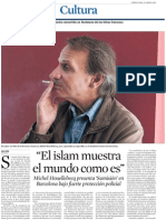 MIchel Houellebecq. El Islam muestra el mundo como es