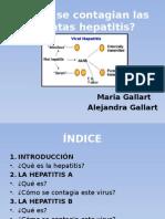 ¿Cómo se contagian las distintas hepatitis?