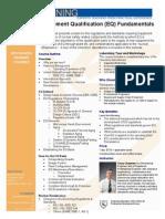 Equipment Qualification Fundamentals Brochure
