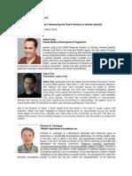 Seminar on Men and Masculinities Speakers' Bios