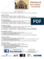 Program Kino Urania 30.4.-6.5.2015