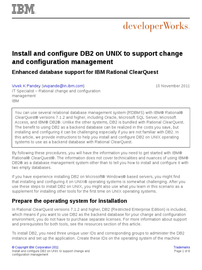 Enhanced Database Support Rational Clearquest PDF | Ibm Db2