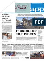 Asbury Park Press front page Wednesday, April 29 2015