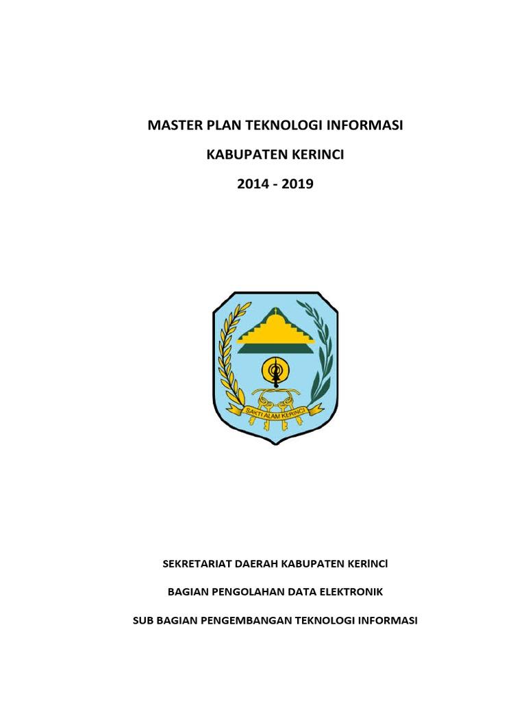Master Plan Teknologi Informasi Kabupaten Kerinci Final Pdf