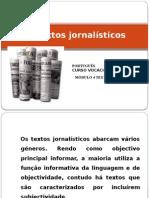 Os Textos Jornalísticos