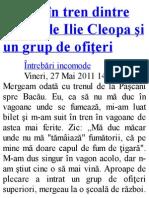 Discutie in Tren Cu Pr Cleopa