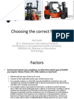 Choosing the Correct Forklift