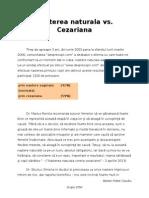 Nasterea Naturala vs. Cezariana