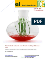 28th April,2015 Daily Global Rice E-Newsletter by Riceplus Magazine