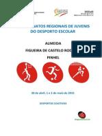 Programa Regionais Desportos Colectivos 2015 - Juvenis