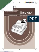 Manual Sharp XE-A201