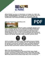 Alfred Nobel Was Born in Stockholm on October 21