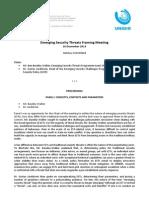 Emerging Security Threats Framing Meeting en 613