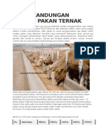 Tabel Kandungan Nutrisi Pakan Ternak