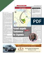 Israel Expels Sudanese to Uganda