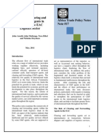 Freight Forwarding Policy Note Final 16May2011