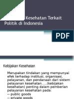 Kebijakan Kesehatan Politik