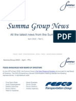 Summa Group News 2015 - April PT1