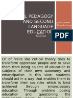 Critical pedagogy and second language education.pptx