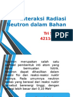Interaksi Radiasi Neutron Dalam Bahan