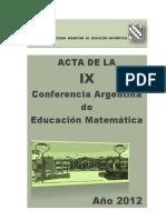 Acta Ix Carem_2012