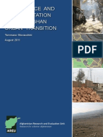EGovernance and Representation in the Afghan Urban Transition WP