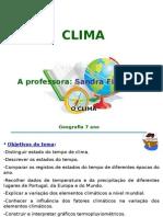 Apresentação Da Aula n.º 1 - Clima