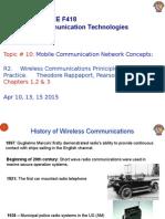 ECE C392 Mobile Communication Concepts Apr 10, 13, 15, 2015