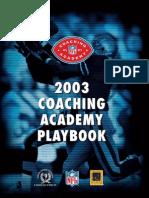 Amer. Jalkapallo 200 Coachingacademyplaybook2003